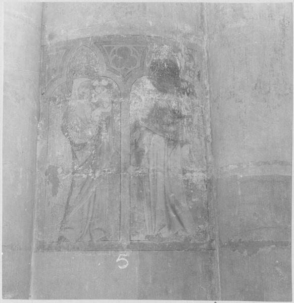 Peinture monumentale : Vierge à l'Enfant et sainte Catherine