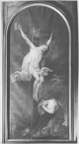 Tableau : le Christ expirant pleuré par Marie-Madeleine