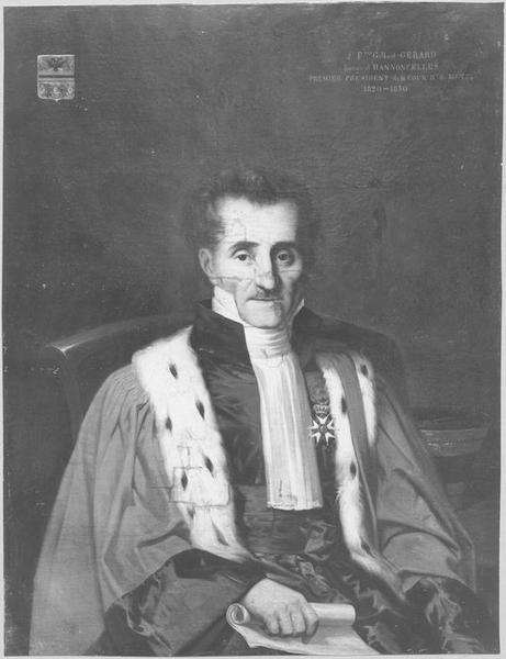 Tableau : Portrait de Jean-François Gilbert, baron Gérard d'Hannoncelles