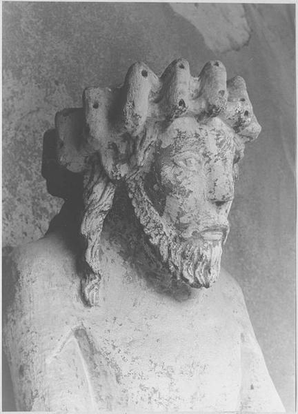 Statue : Christ de Pitié dit bon-Dieu de Pitié (détail du visage)