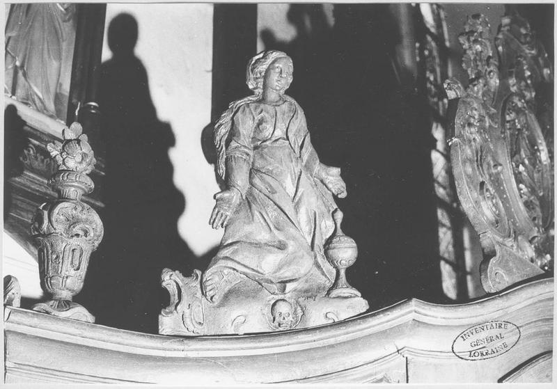 Confessionnal (détail élément sculpté)