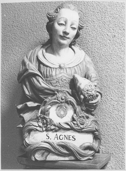 Buste-reliquaire : sainte Agnès