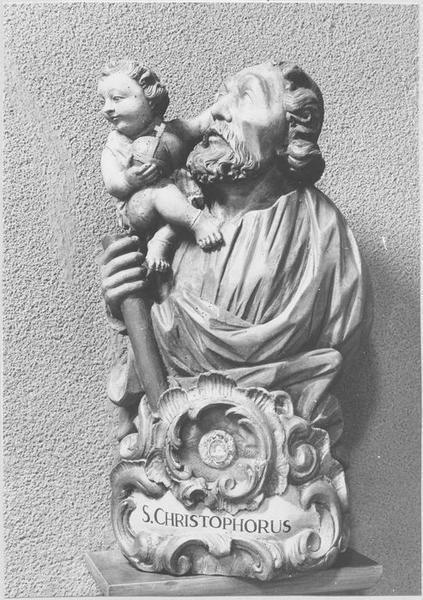 Buste-reliquaire : saint Christophe