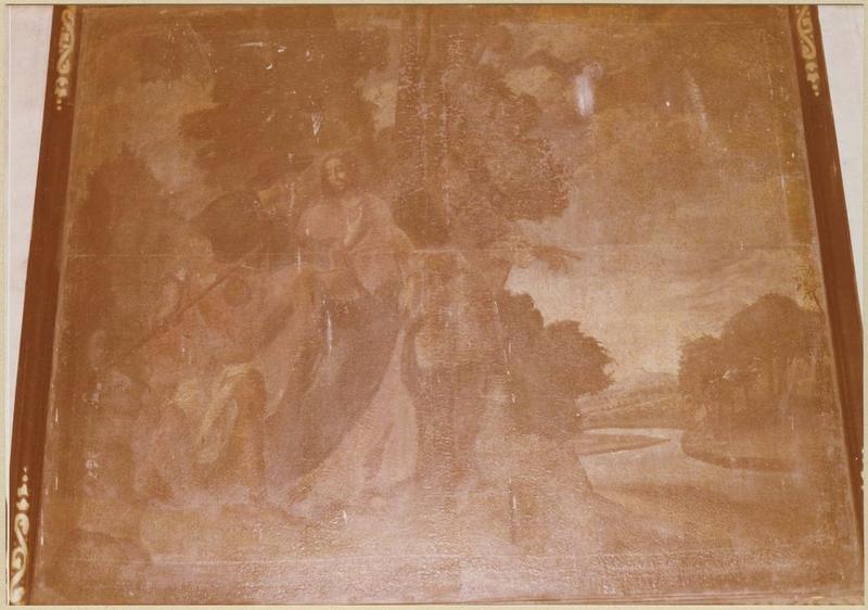 Tableau : le Christ et ses disciples sur le chemin d'Emmaüs