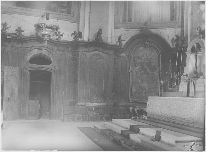 Lambris de revêtement, stalles (côté nord près de l'abside)