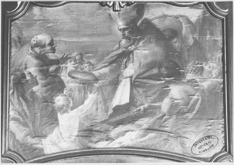 Tableau : saint Nicolas secourt les indigents