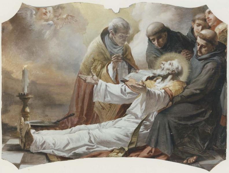Tableau : mort de saint Nicolas