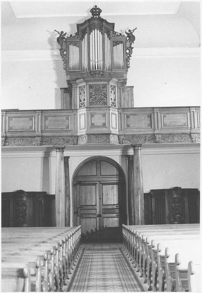 Orgue de tribune : tribune et buffet d'orgue (vue d'ensemble)