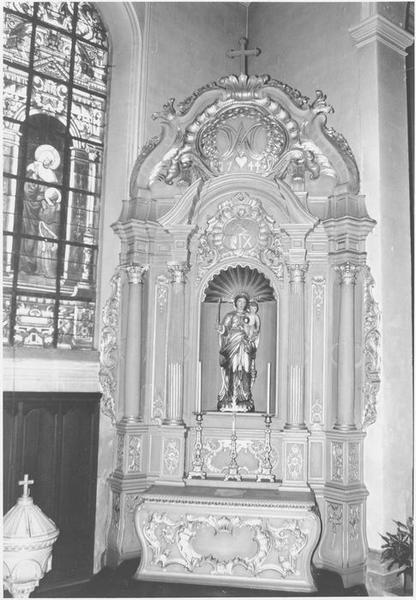 Autel, retable (autel secondaire de la Vierge) (vue d'ensemble)