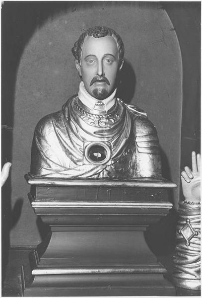 Buste-reliquaire : saint Quirin (de face)