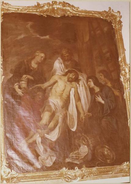 Tableau, cadre : la Descente de Croix (vue d'ensemble)
