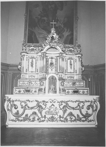 autel, tabernacle, retable (maître-autel)