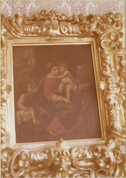 Tableau, cadre : la Sainte Famille (vue rapprochée)