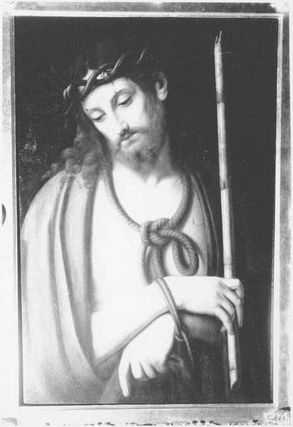 Tableau et cadre : le Christ au Roseau (vue rapprochée)