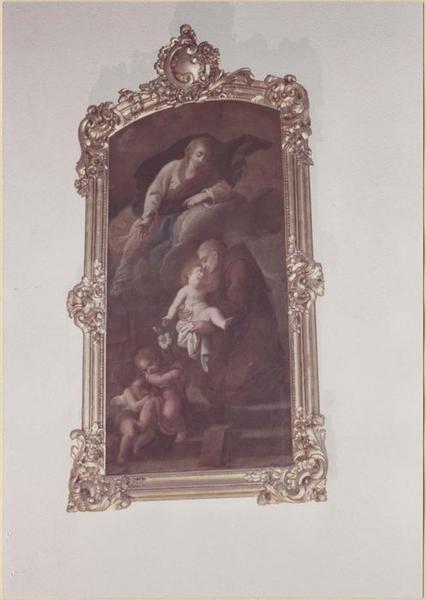 Tableau, cadre : saint Antoine-de-Padoue et les enfants