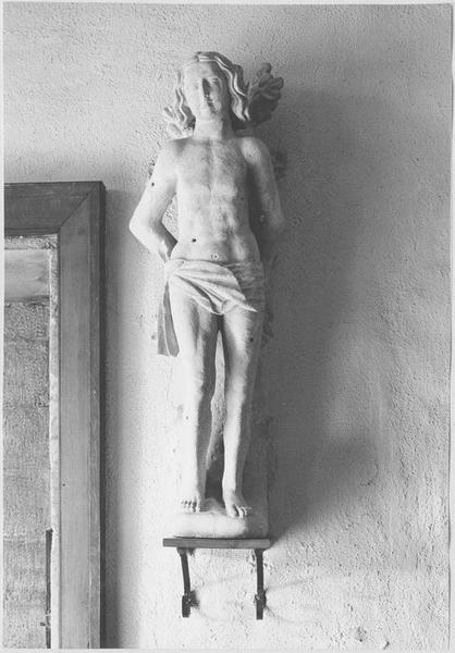 Statue style populaire : saint Sébastien