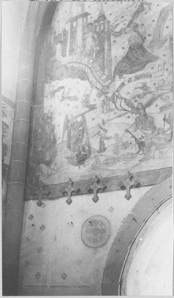Peinture monumentale: le jugement dernier (mur ouest)