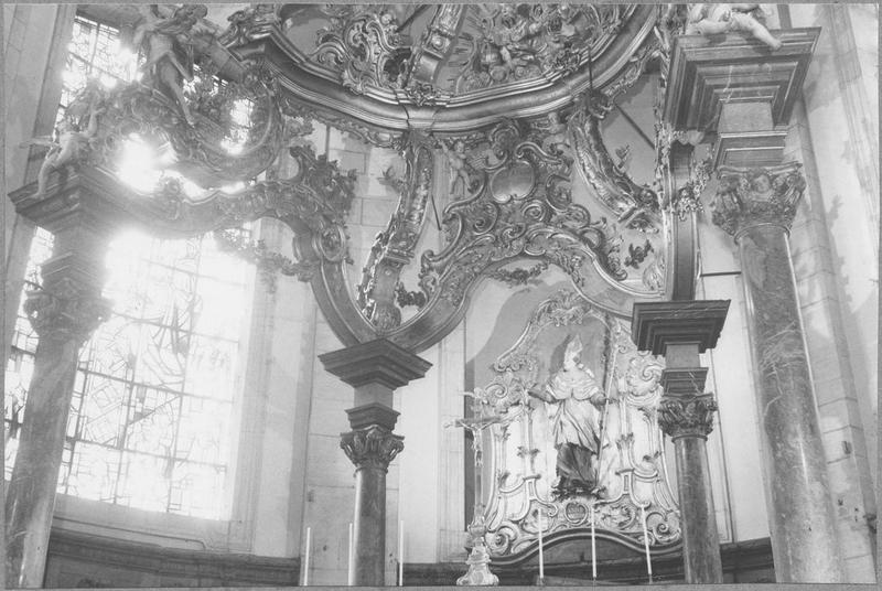 Baldaquin d'autel (maître-autel) (vue partie inférieure)