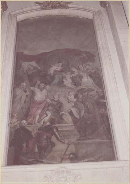 Tableau : la Vierge entourée d'une assemblée de saints