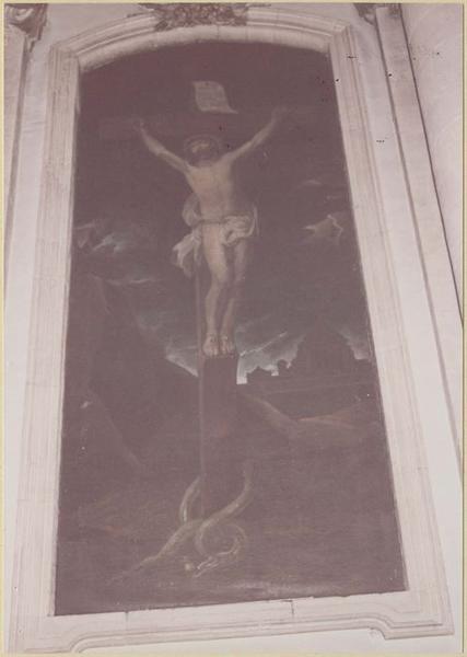 Tableau : le Christ expirant sur la croix