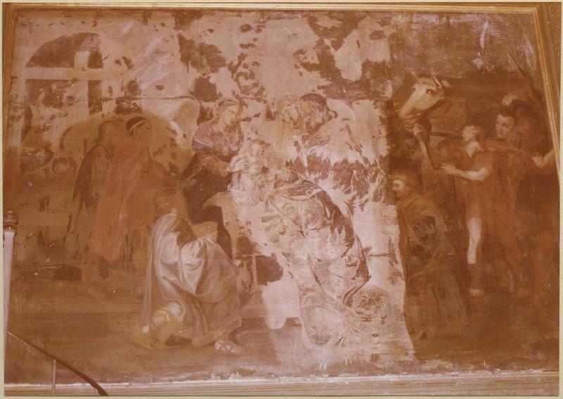 Tableau : l'Adoration des rois Mages