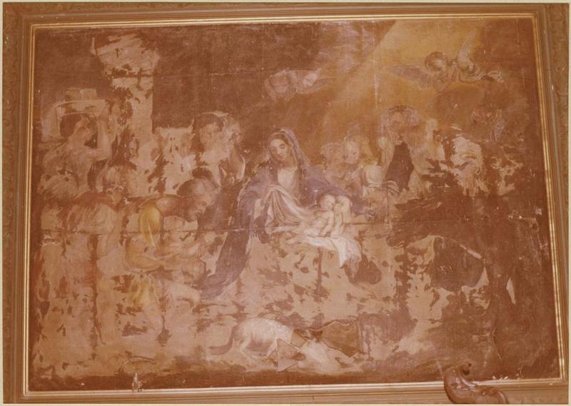 Tableau : l'Adoration des bergers (à droite de la tribune d'orgues)