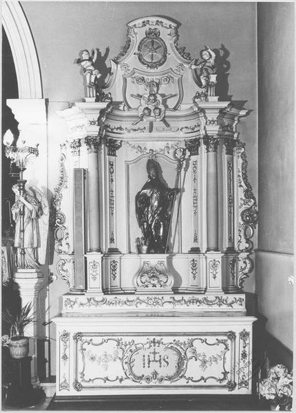 Autel, retable (autel secondaire de saint Nicolas)