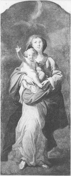 Lambris de revêtement, tableau : Vierge à l'Enfant