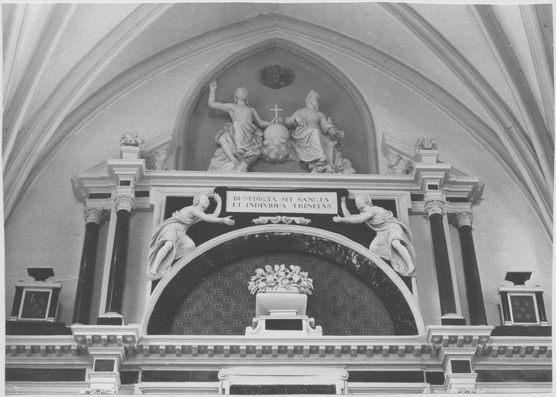 Autel retable de la sainte Trinité (partie supérieure)