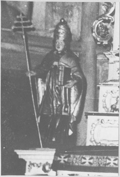 autel, tabernacle, retable, 2 statuettes : saint Maurice, saint Marcel (maître-autel)