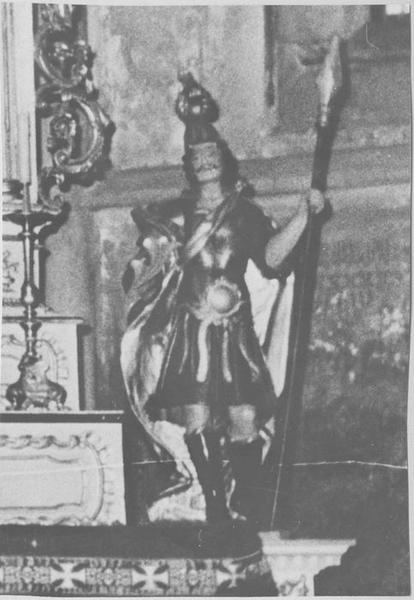 Statuette : saint Maurice ou saint Marcel (maître-autel)
