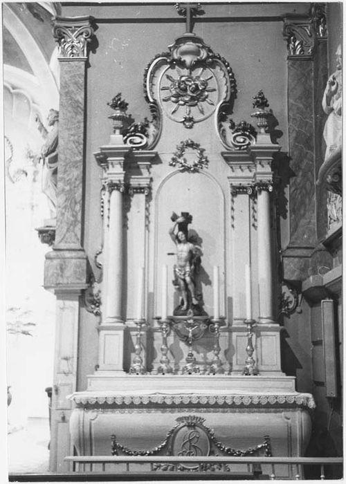 autel latéral sud, statue : Saint Sébastien