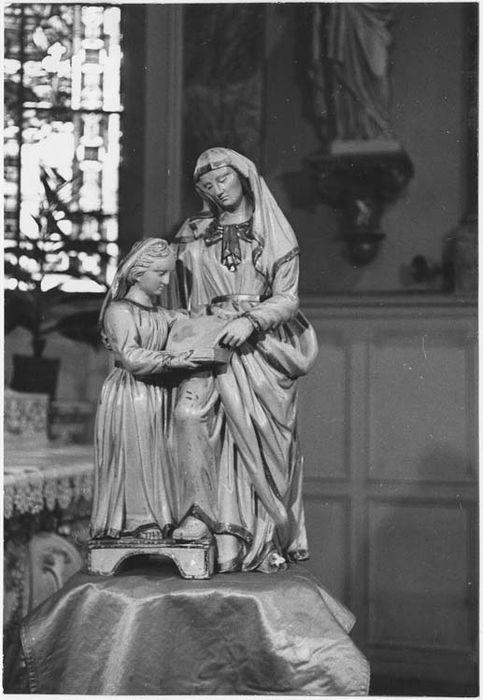 groupe sculpté : Education de la Vierge (l')