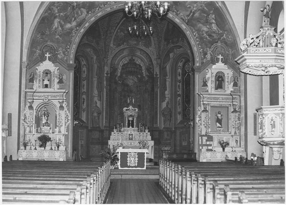 maître-autel, retables latéraux