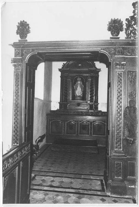 autel latéral nord et retable