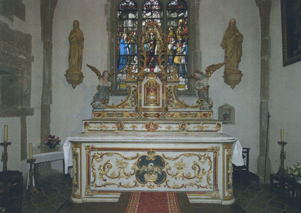 autel (ancien maître-autel) avec gradins et tabernacle