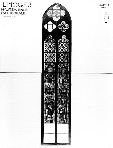 Photomontage de vitrail : baie 2, saints