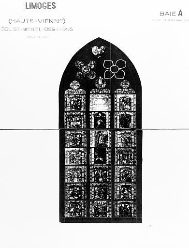 Verrière de la baie 1 : Vie de saint Jean-Baptiste (ensemble de 2 verrières à personnages)