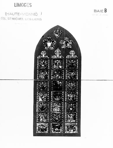 Verrière de la baie 2 : Vie de la Vierge (ensemble de 2 verrières à personnages)