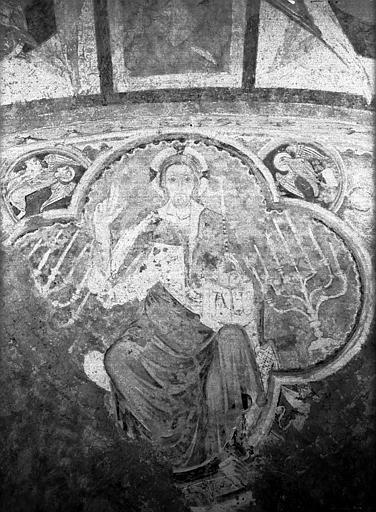 2 peintures monumentales : Le Christ de l'Apocalypse entouré des symboles évangéliques, Le Christ et les évangélistes à cheval