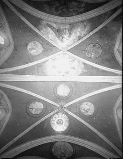 Peintures murales : voûte, côté tribune des orgues