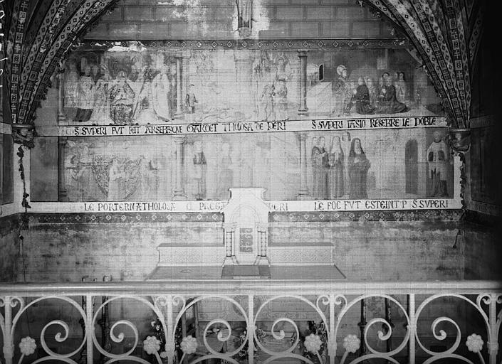 Chapelle, peinture murale : Histoire de saint Exupère