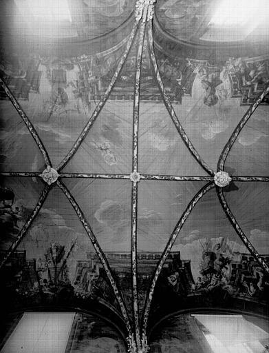 Plafond des deuxième et troisième travées