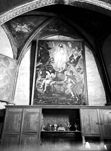 Peinture sur toile dans la sacristie : la Résurrection