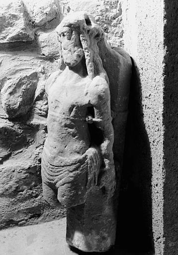 Haut-relief en pierre, fragment : Christ aux liens
