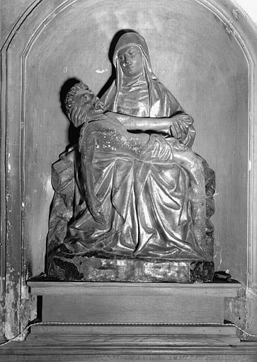 Statue en bois peint et doré, niche côté nord du choeur : Vierge de Pitié
