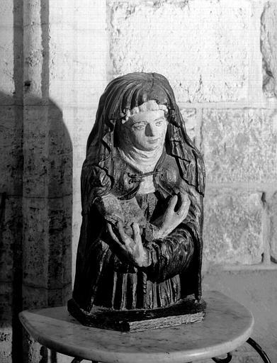 Buste en bois peint : Bienheureuse Bonne