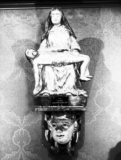 Statue en bois doré : Vierge de Pitié