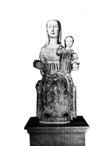 Statue en bois : Vierge à l'Enfant