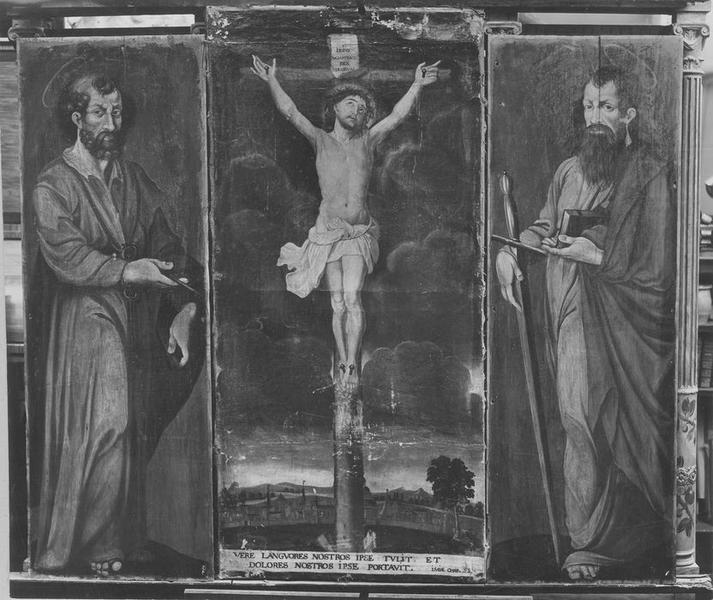 Tableau (triptyque) : la Crucifixion
